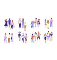 collection of people talking or chattering to each vector image vector image