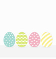 colorful painting easter egg set row of painted vector image