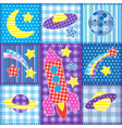 Colorful Space patchwork vector image