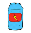 Comic cartoon beer can