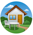cottage icon vector image vector image