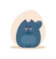 cute surprised fatty smokey blue vector image vector image