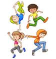 Dancing vector image vector image