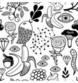 doodle seamless for coloring book vector image