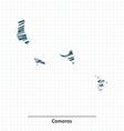 Doodle sketch of Comoros map vector image vector image