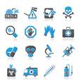 Ebola pandemic icons vector image