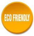 eco friendly orange round flat isolated push vector image vector image