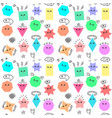 emoji from geometric figures fun seamless vector image vector image