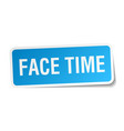 face time square sticker on white vector image vector image