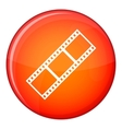 Film strip icon flat style vector image vector image
