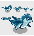 Fun cartoon Dolphins different size vector image vector image
