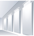Gallery Interior with niche inside the panel vector image vector image