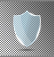 glass shield in front view blue acrylic security vector image vector image