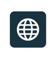 globe icon Rounded squares button vector image vector image