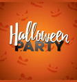halloween party with vector image vector image