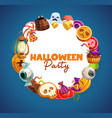 halloween trick or treat candies and pumpkins vector image vector image