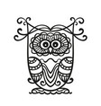 hand drawn owl for adult and children coloring vector image vector image