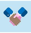 handshake flat design vector image vector image