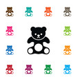 isolated plush icon cuddly element can be vector image vector image