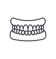 jaw with teeth line icon sign vector image vector image