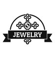jewelry cross logo simple black style vector image vector image