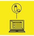 laptop computer design vector image