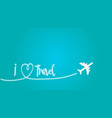 love travel concept a airplane flying in the dark vector image vector image