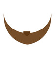 man beard icon cartoon style vector image