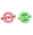 montblanc round stamps with corroded surface vector image vector image