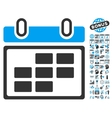 Month Calendar Flat Icon With Bonus vector image vector image
