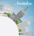 Montpelier Vermont city skyline with grey building vector image vector image