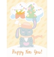New Years Eve greeting card Stunning with cute vector image