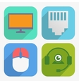 Office and Business Icons Set in Flat Design vector image