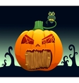 Pumpkin house vector image