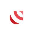 red circle globe abstract logo icon design vector image vector image