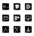Repair tools icons set grunge style vector image vector image