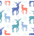 scandinavian deer christmas doodles seamless vector image vector image