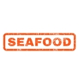 Seafood Rubber Stamp vector image vector image