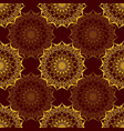 seamless pattern with baroque ornamental elements vector image