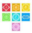 set chakras symbol meditation and spiritual vector image