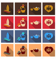set of images on the theme of ancient greece they vector image vector image