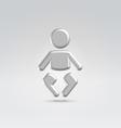 Silver baby icon