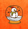 Snow Globe Cartoon vector image