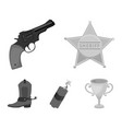 star sheriff colt dynamite cowboy boot wild vector image