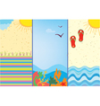 Summer Beach Time vector image vector image