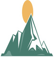 Sunrise Mountain vector image vector image