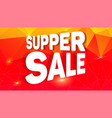super sale design of creative banner for shopping vector image