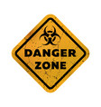 toxic zone grungy emblem sign vector image