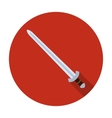 Viking sword icon in flat style isolated on white