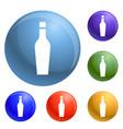 Whiskey glass icons set